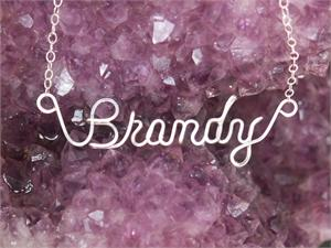 how to make name jewelry with wire