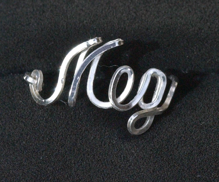 Ali Name Ring In Sterling Silver Wire