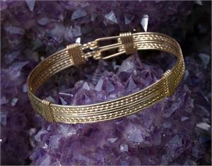 Classic Double Bracelet 12k Gold Fill Wire
