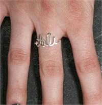 name ring sterling silver wire