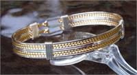 Classic Double Bracelet Mixed Gold,Silver Wire