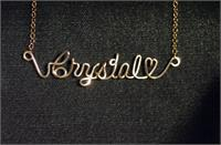 Name necklace 12 K Gold Fill Heart
