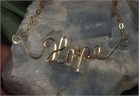 Hope Name Necklace Gold Fill Wire