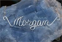 handmade name necklace silver morgan