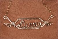 name plate necklace 12k  gold fill