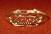 Name Bracelet 12 K Gold Fill wire