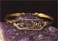 Japanese Name Bracelet  Gold Wire