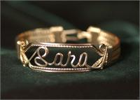 Name Bracelet Light Double Band 14K Gold Fill Wire