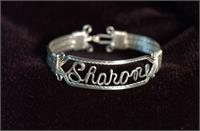 Name Bracelet Light Double Sterling Silver Band