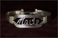 Heavy Silver Name Bracelet