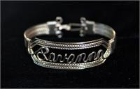 Wire Name Bracelet  Savanna Heavy Band