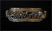 Silver Name Bracelet Heavy Band