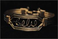 Wire Name Bracelet  Celie Heavy Band