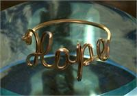 Hope name ring gold fill wire