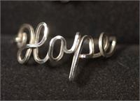 Hope name ring  Sterling Silver