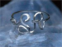 Custom Initial Ring in 12k Gold Fill Wire