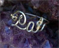 Script Wire name ring in Sterling Silver Pat