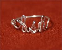 Custom Name on Ring in Sterling Silver wire