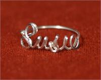Personalized Name Ring Sterling Silver Wire