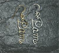 name earings 12k gold fill sterling silver